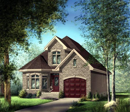 House Plan 52647 with 2 Beds, 3 Baths, 1 Car Garage Elevation