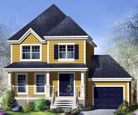 House Plan 52648 with 3 Beds, 2 Baths, 1 Car Garage Elevation