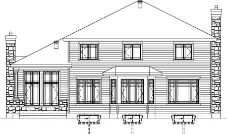 House Plan 52651 Rear Elevation