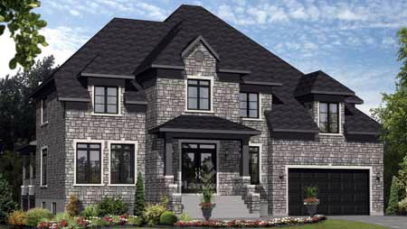 House Plan 52652 with 4 Beds, 3 Baths, 2 Car Garage Elevation