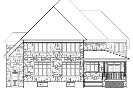 House Plan 52652 Rear Elevation