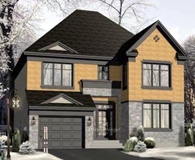 House Plan 52653 | Style Plan with 2268 Sq Ft, 4 Bedrooms, 3 Bathrooms, 1 Car Garage Elevation