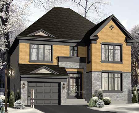 House Plan 52653 with 4 Beds, 3 Baths, 1 Car Garage Elevation