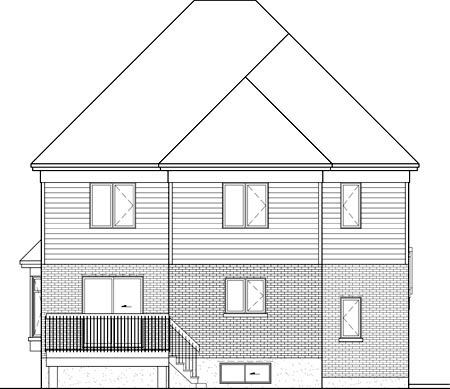 House Plan 52653 Rear Elevation
