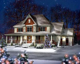 House Plan 52654 with 4 Beds, 3 Baths, 2 Car Garage Elevation