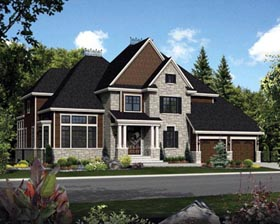 House Plan 52656 | Style Plan with 3837 Sq Ft, 3 Bedrooms, 3 Bathrooms, 2 Car Garage Elevation