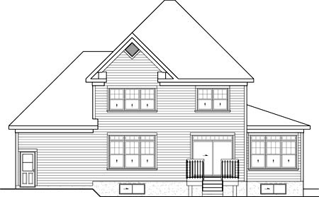 House Plan 52658 Rear Elevation