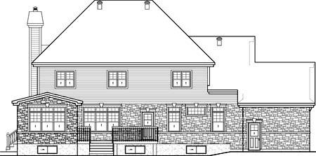 House Plan 52659 Rear Elevation