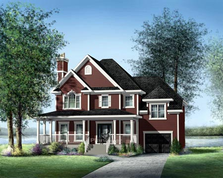 House Plan 52664 Elevation