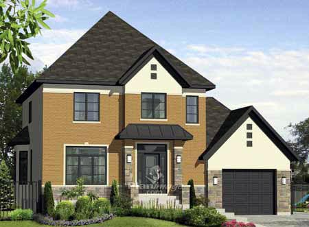 House Plan 52665 with 3 Beds, 3 Baths, 1 Car Garage Elevation