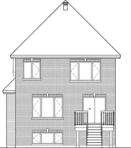 House Plan 52666 Rear Elevation