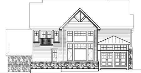 House Plan 52667 Rear Elevation
