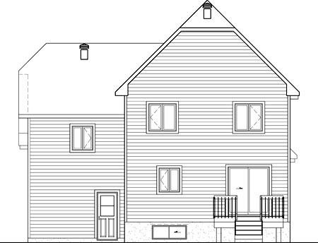 House Plan 52669 Rear Elevation
