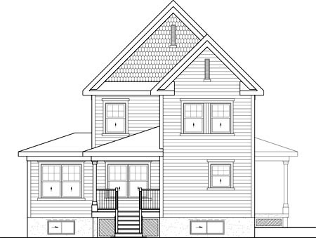House Plan 52671 Rear Elevation