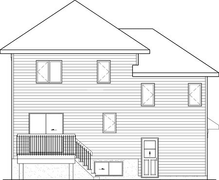 House Plan 52673 Rear Elevation