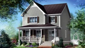 House Plan 52674 | Style Plan with 1582 Sq Ft, 3 Bedrooms, 2 Bathrooms Elevation