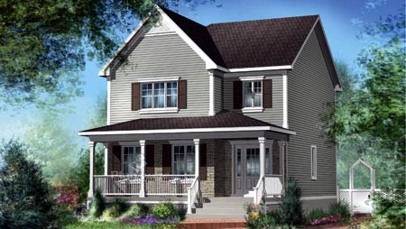 House Plan 52674 Elevation