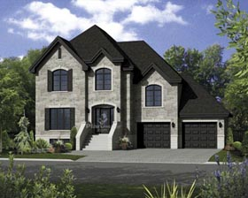 House Plan 52678 with 3 Beds, 3 Baths, 2 Car Garage Elevation