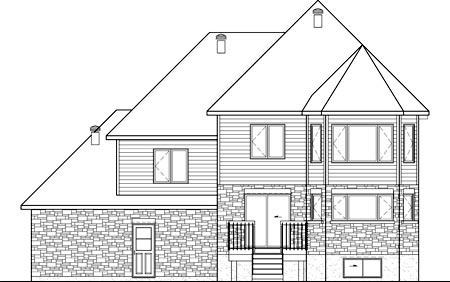 House Plan 52678 Rear Elevation