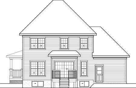 House Plan 52682 Rear Elevation