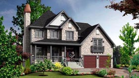House Plan 52684 Elevation