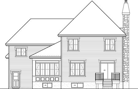 House Plan 52684 Rear Elevation