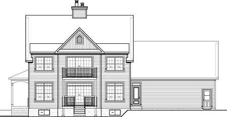 House Plan 52685 Rear Elevation
