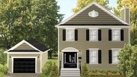 House Plan 52688 Elevation