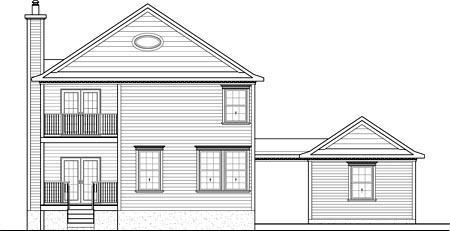 House Plan 52688 Rear Elevation