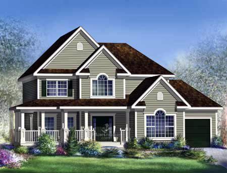 House Plan 52689 | Style Plan with 2428 Sq Ft, 3 Bedrooms, 3 Bathrooms, 1 Car Garage Elevation