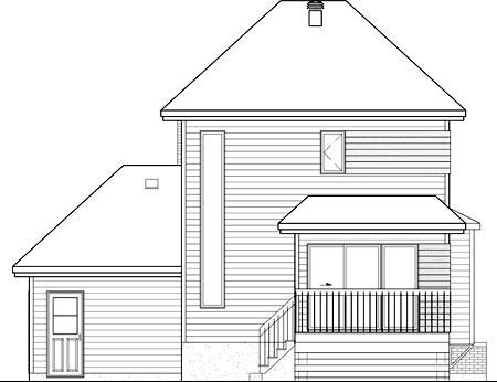 House Plan 52690 Rear Elevation