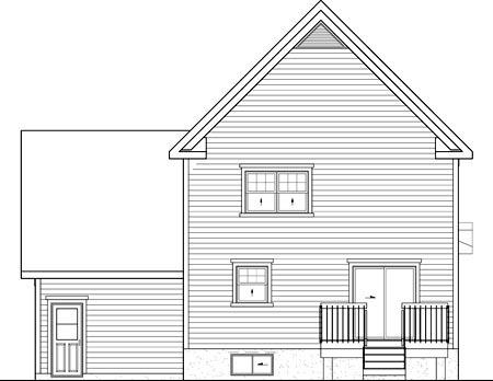 House Plan 52691 Rear Elevation