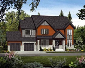 House Plan 52693 with 3 Beds, 3 Baths, 2 Car Garage Elevation
