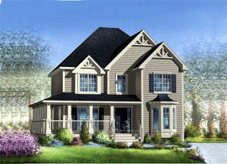 House Plan 52694 with 3 Beds, 3 Baths Elevation