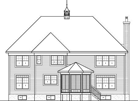 House Plan 52699 Rear Elevation