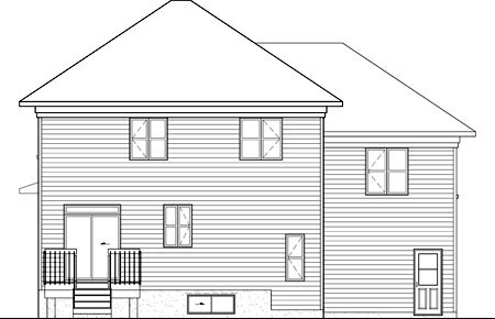 House Plan 52700 Rear Elevation