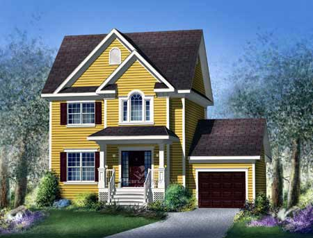 House Plan 52701 Elevation