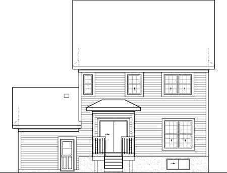 House Plan 52701 Rear Elevation