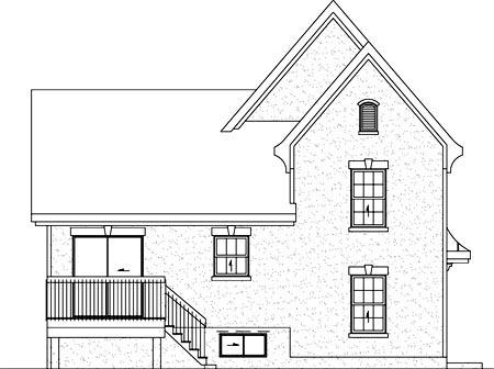 House Plan 52702 Rear Elevation
