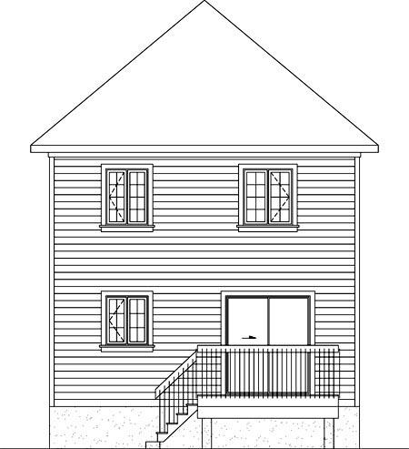 House Plan 52703 Rear Elevation