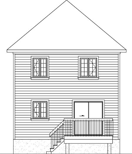 House Plan 52704 Rear Elevation