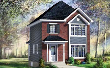 House Plan 52707 with 2 Beds, 2 Baths Elevation