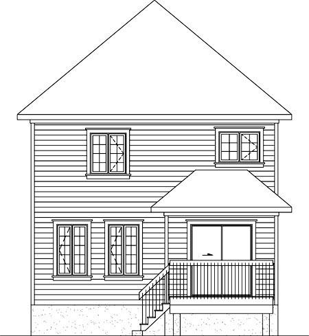 House Plan 52709 Rear Elevation