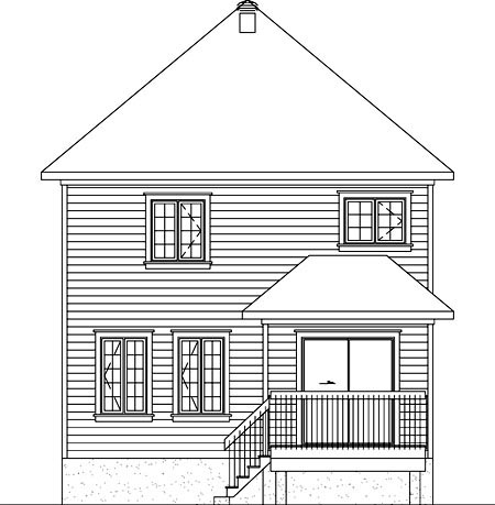 House Plan 52710 Rear Elevation