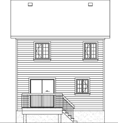 House Plan 52711 Rear Elevation