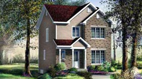 House Plan 52712 with 2 Beds, 2 Baths Elevation