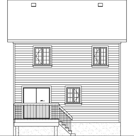 House Plan 52713 Rear Elevation