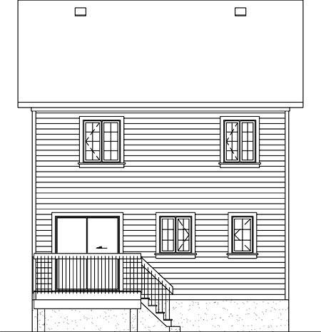 House Plan 52714 Rear Elevation