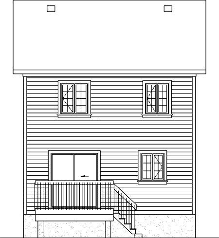House Plan 52715 Rear Elevation