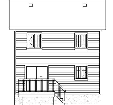 House Plan 52716 Rear Elevation